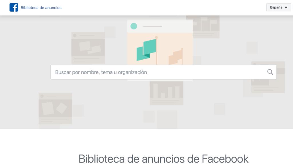 biblioteca auncios facebook